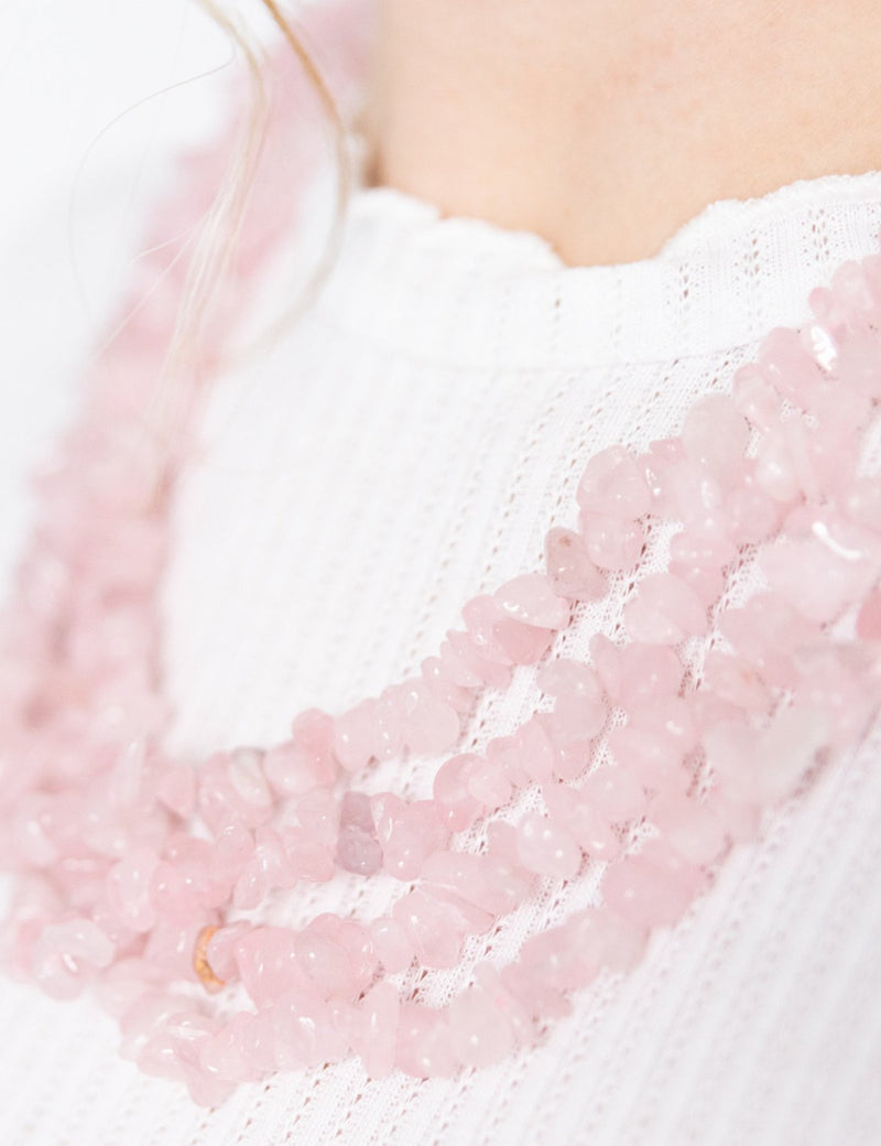 Rose Quartz Necklace - YGN Collective