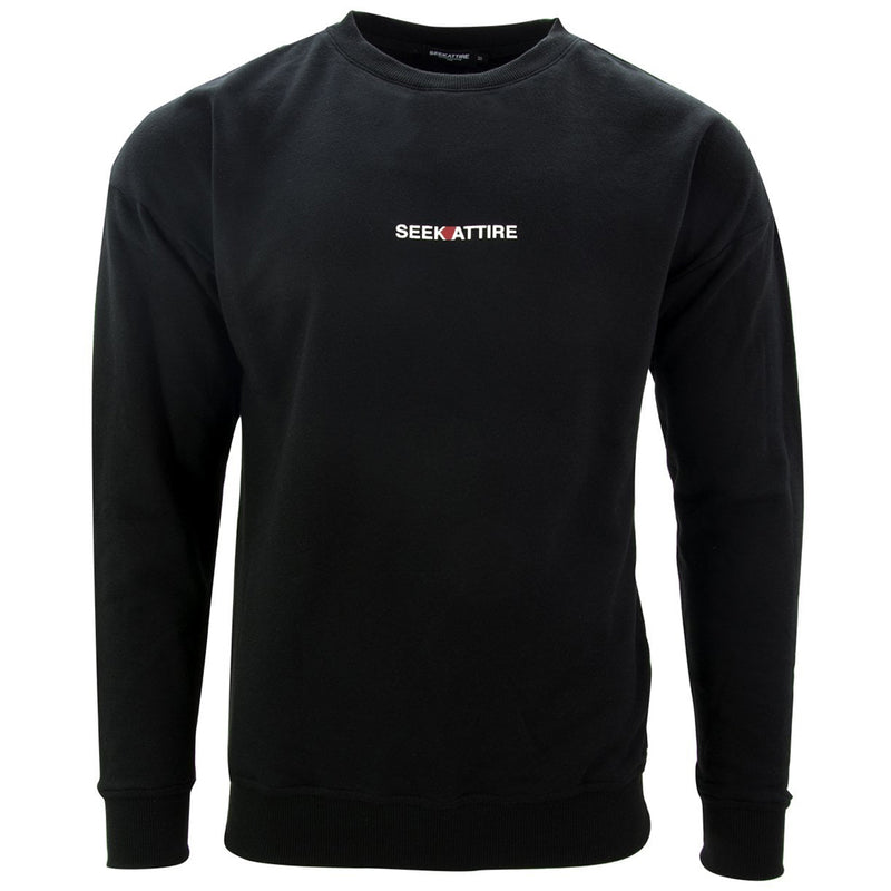 Archive Logo Crewneck Sweatshirt Black