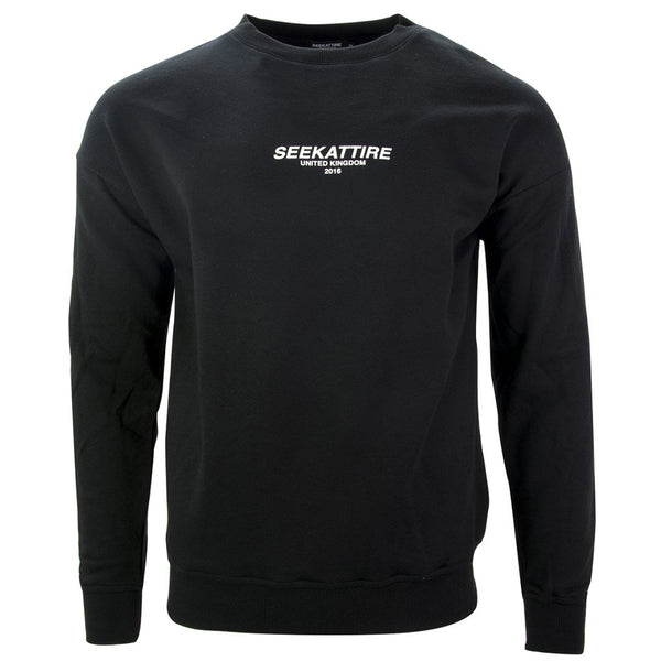 Authentic Logo Crewneck Sweatshirt Black