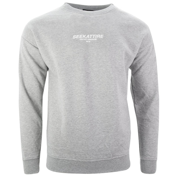 Authentic Logo Crewneck Sweatshirt Grey