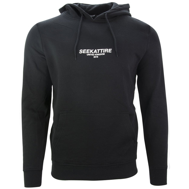 Authentic Logo Pullover Hoodie Black