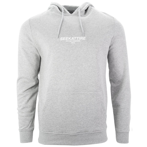 Authentic Logo Pullover Hoodie Grey