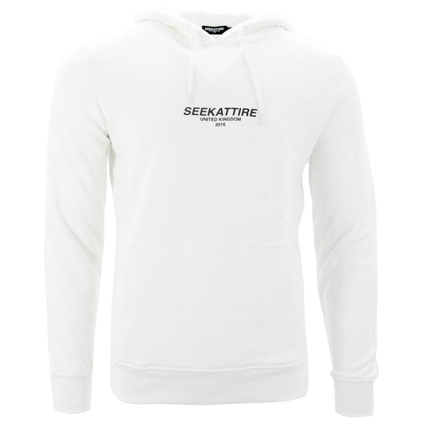 Authentic Logo Pullover Hoodie White