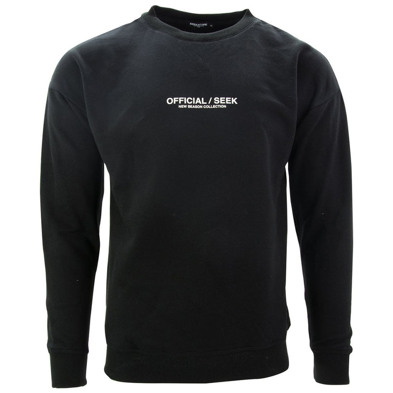 Official SEEK Logo Crewneck Sweatshirt Black