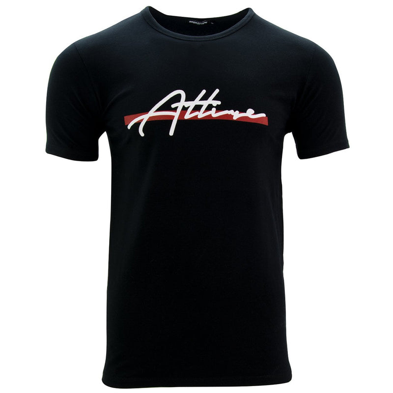 Red Stripe Signature Logo T-Shirt Black