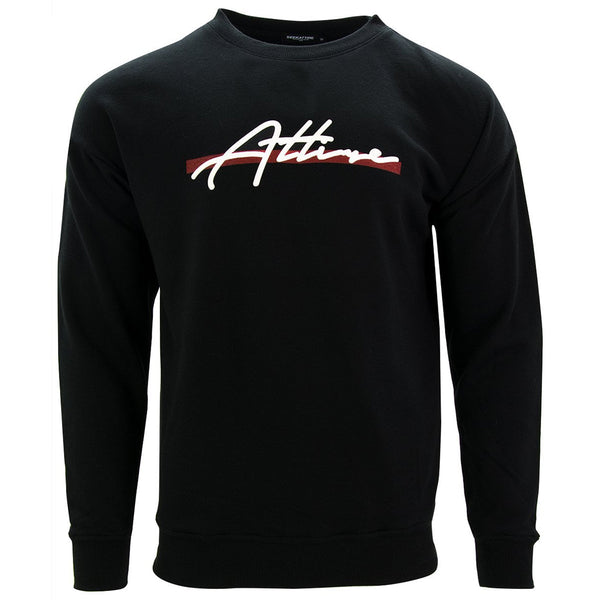 Red Stripe Signature Logo Crewneck Sweatshirt Black