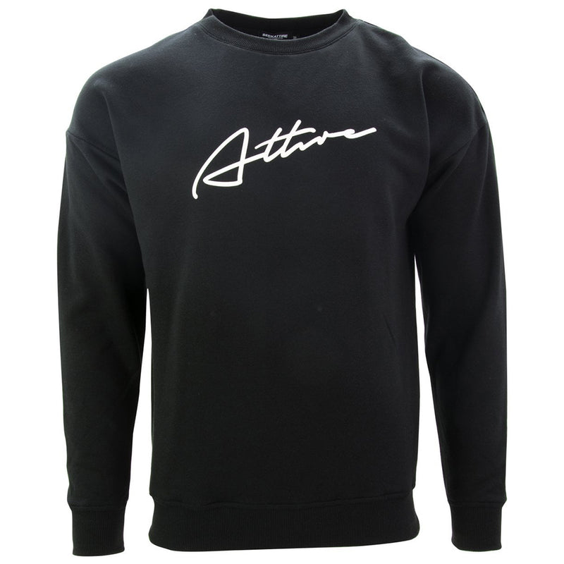 Signature Logo Crewneck Sweatshirt Black