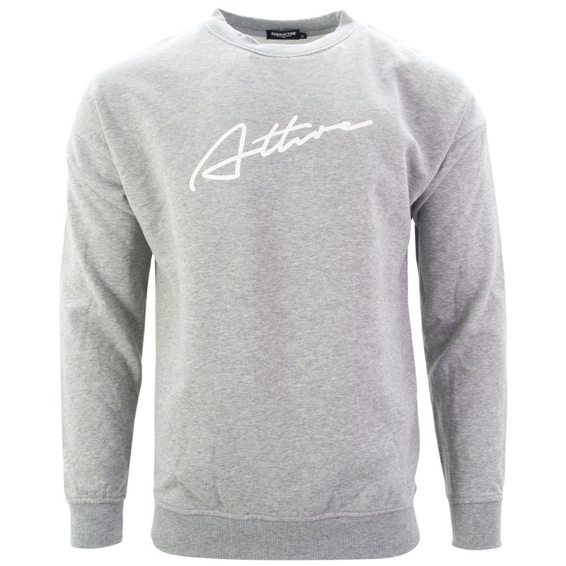 Signature Logo Crewneck Sweatshirt Grey