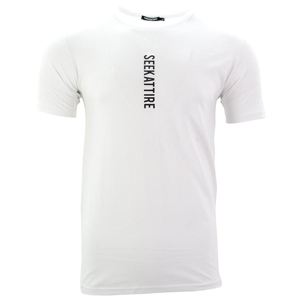 Vertical Logo T-Shirt White