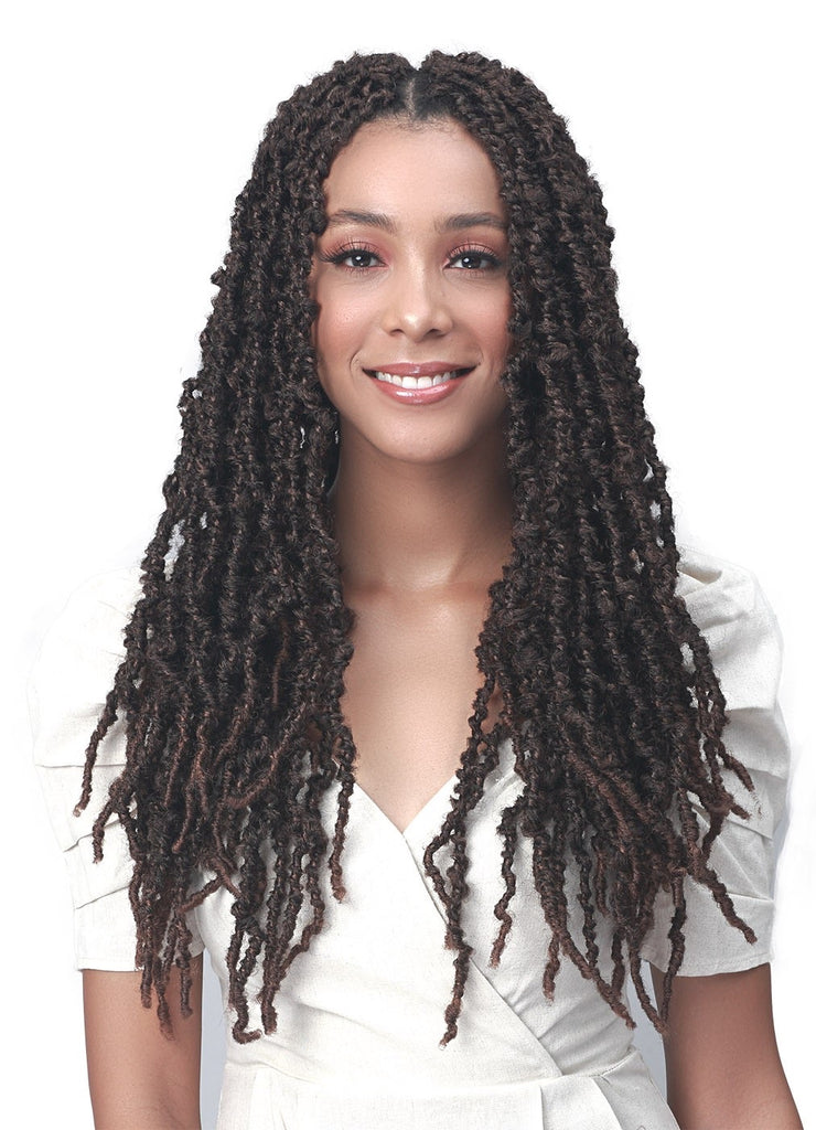 BOBBI BOSS SYNTHETIC CROCHET BRAID NU LOCS DISTRESSED BUTTERFLY LOCS