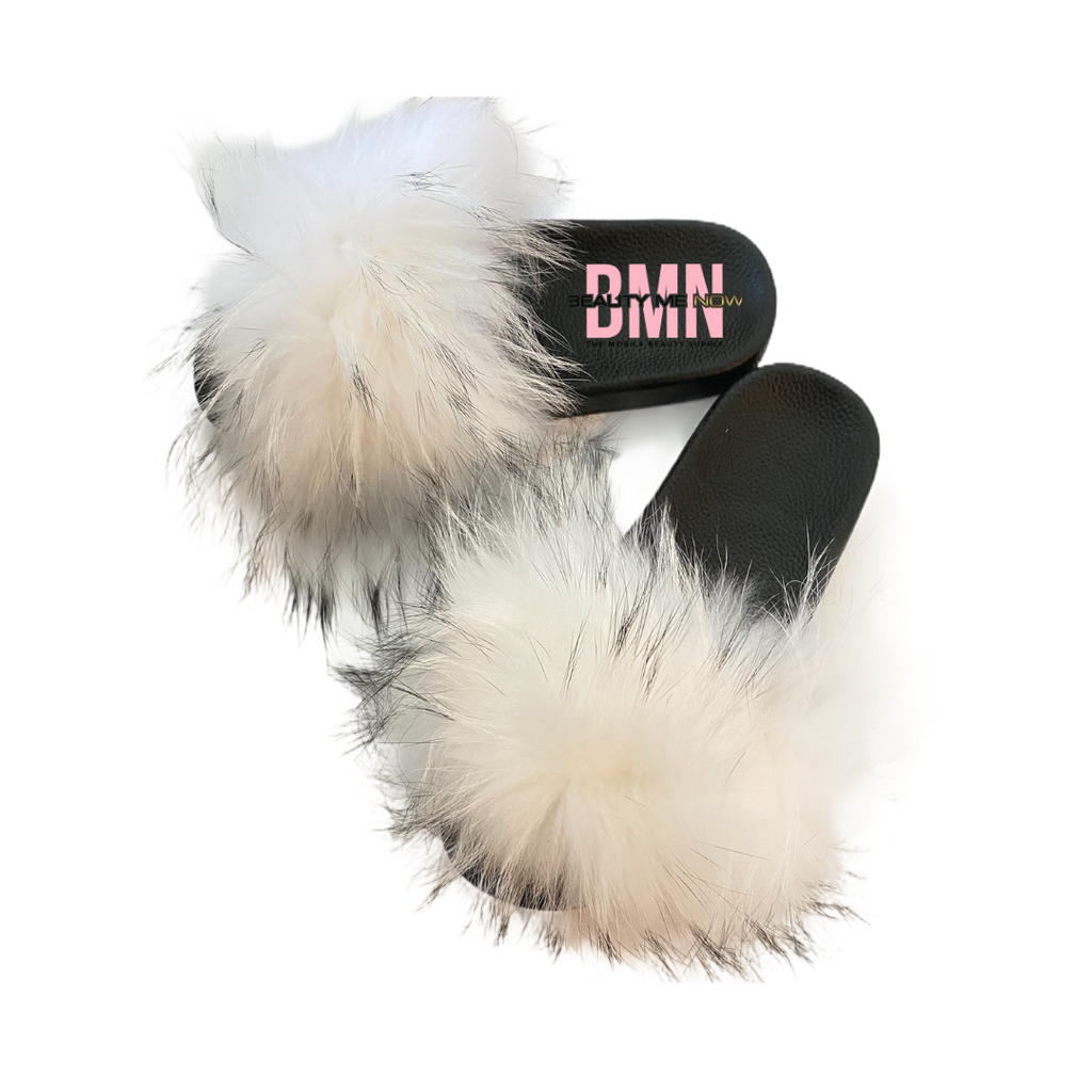 White Fur Slides