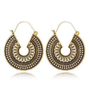 Mandala earrings gold