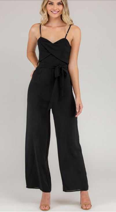 Mandica Wide Leg Jumpsuit - Black