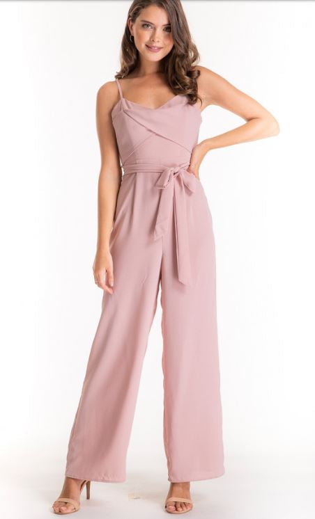 Mandica Wide Leg Jumpsuit - Blush