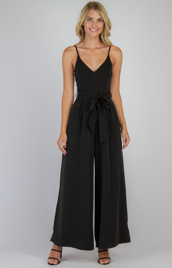 Josie Wide Leg Jumpsuit - Black
