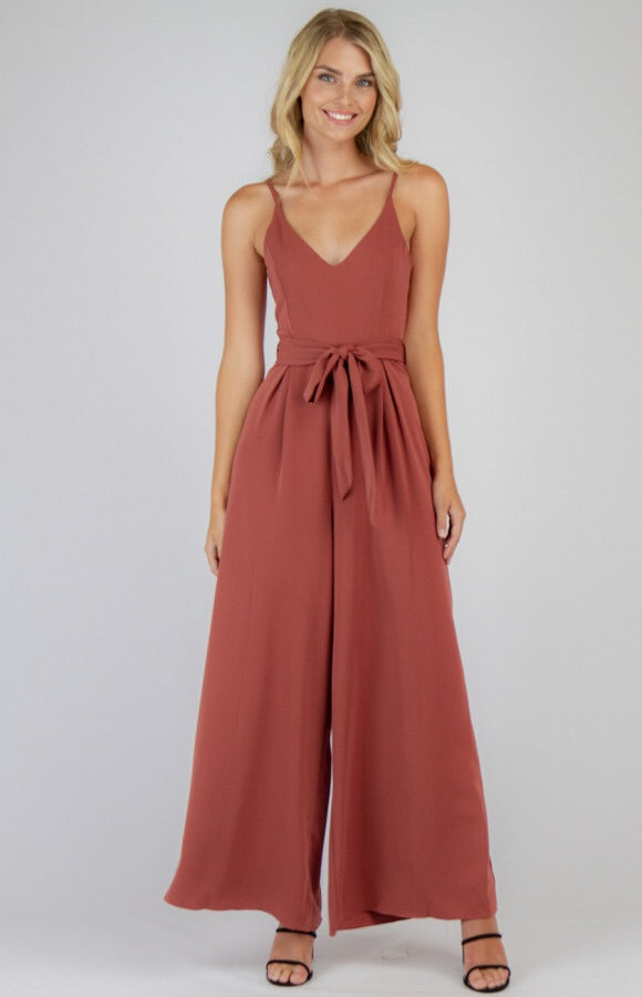 Josie Wide Leg Jumpsuit - Plum