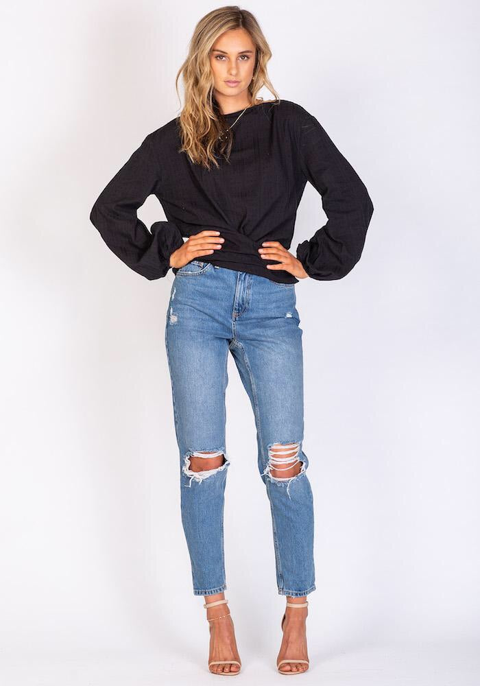 Venice Beach Blouse - Black