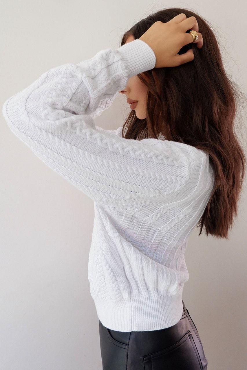 Janie Knit Jumper - White