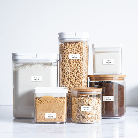 Expiration Labels for Pantry Organization