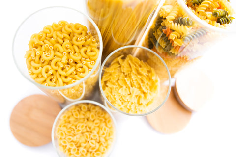 pasta bamboo containers for pantry organization