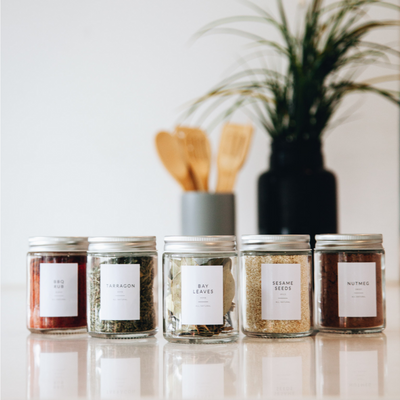Preprinted Spice Jar Labels - MINIMALIST