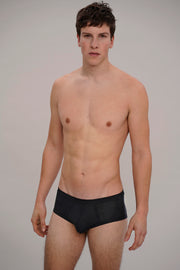 low-rise rib brief in black