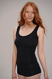 rib tanktop for women in black