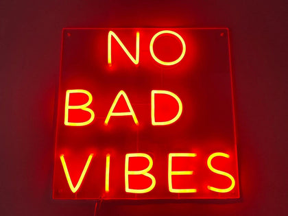 Neon LED NO BAD VIBES #NEONLookED - BuySam