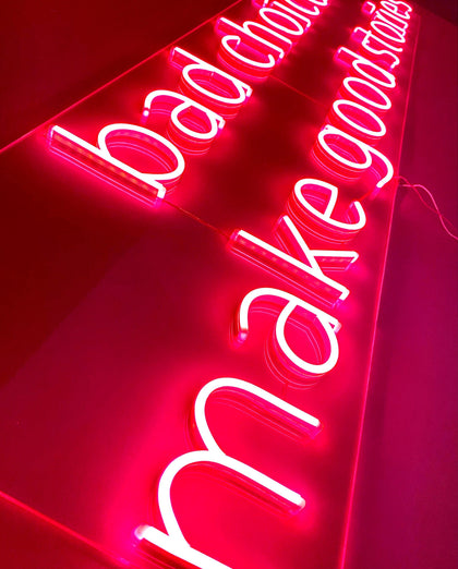 Neon LED bad choices make good stories #NEONLookED - BuySam