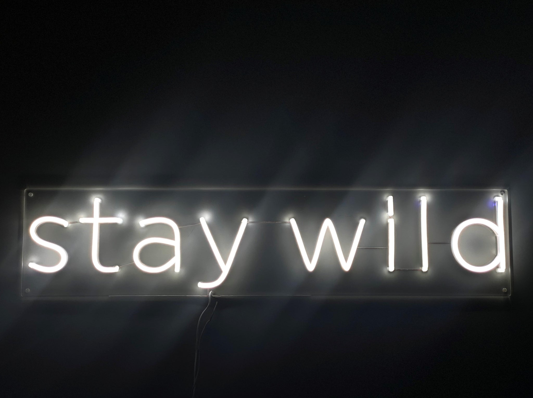 Neon LED stay wild #NEONLookED