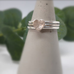Stacking Ring Set  |  Love Heart