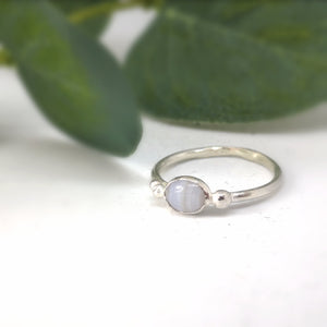 Gemstone Ring  l  Blue Lace Agate