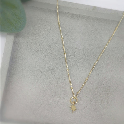Satellite  l  Golden Tiny Pole Star Choker