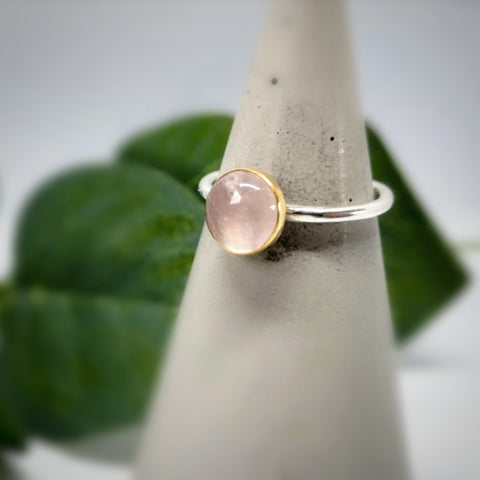 Gemstone Ring  |  Rose Quartz & 9ct Gold