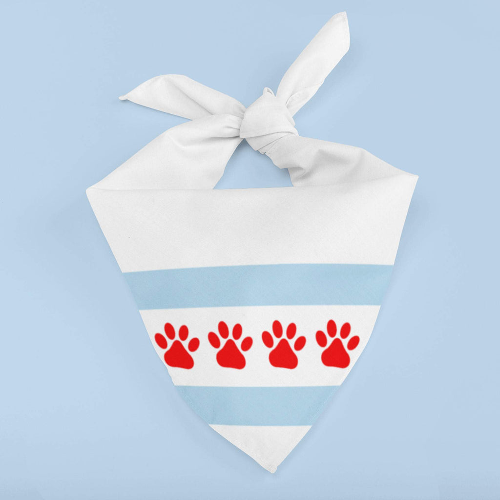 Chicago PAWS Dog Bandana White or Black - My E Three