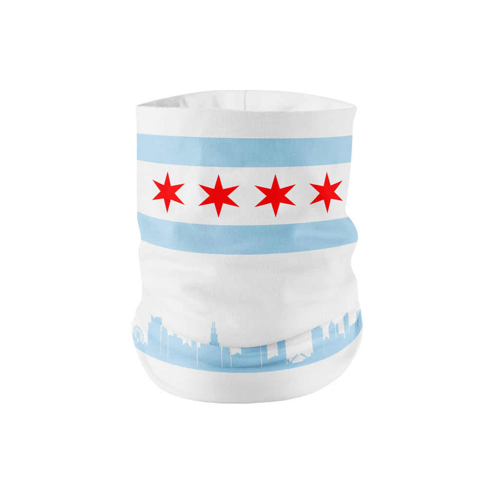 Chicago Neck Gaiter - White - My E Three