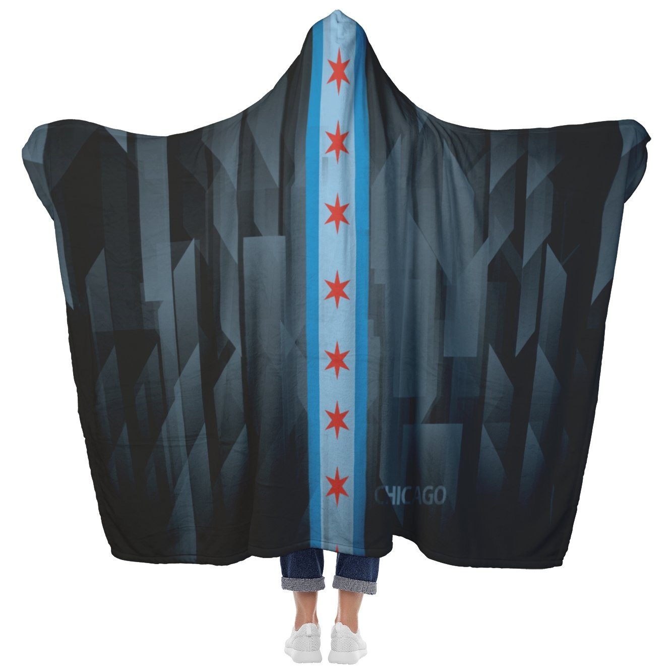 Chicago Reflections - Hooded Blanket - My E Three