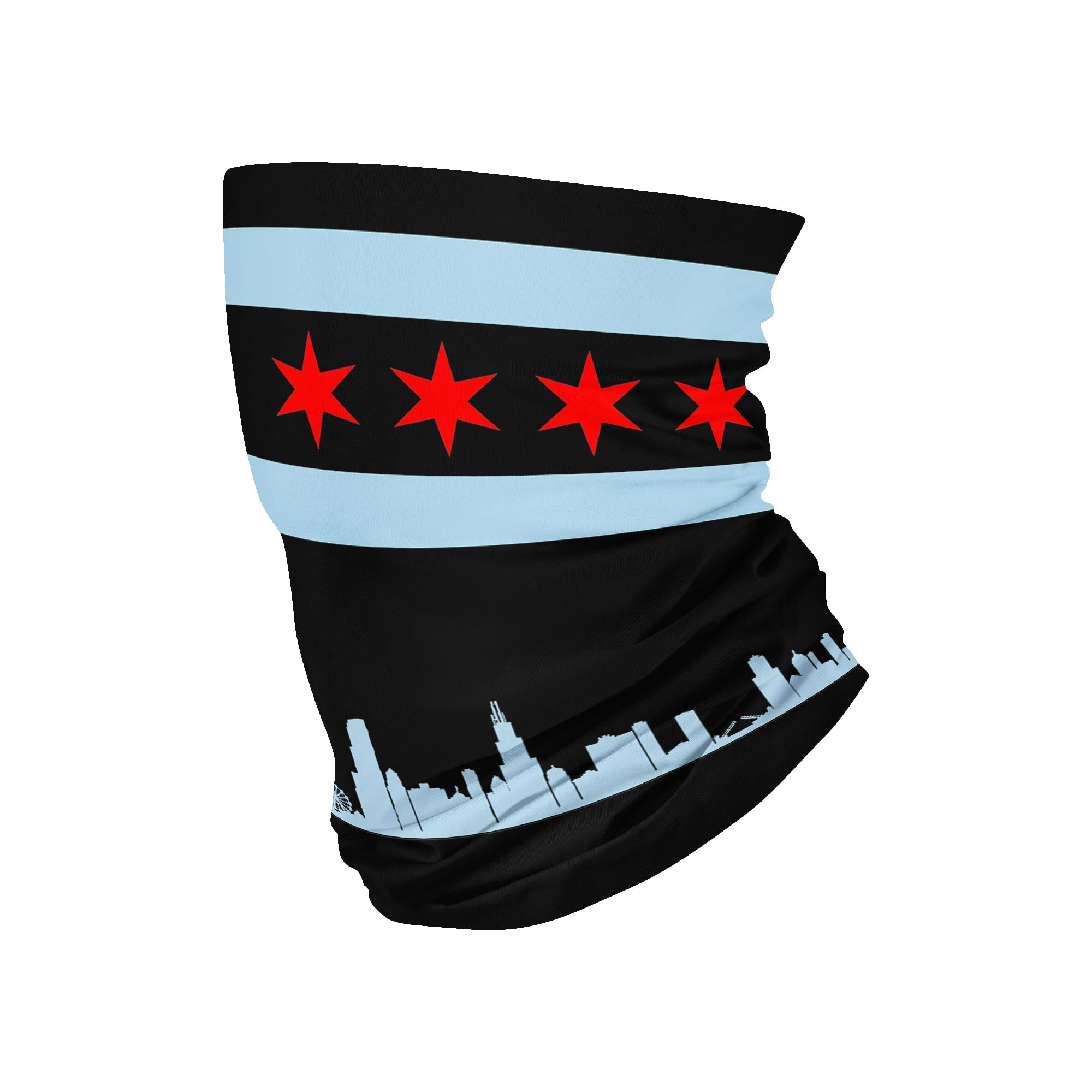 Chicago Neck Gaiter - Black fits Kids, Youth and Petite - My E Three