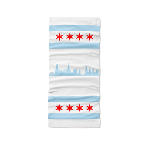 KIDS Chicago Neck Gaiter - White - My E Three