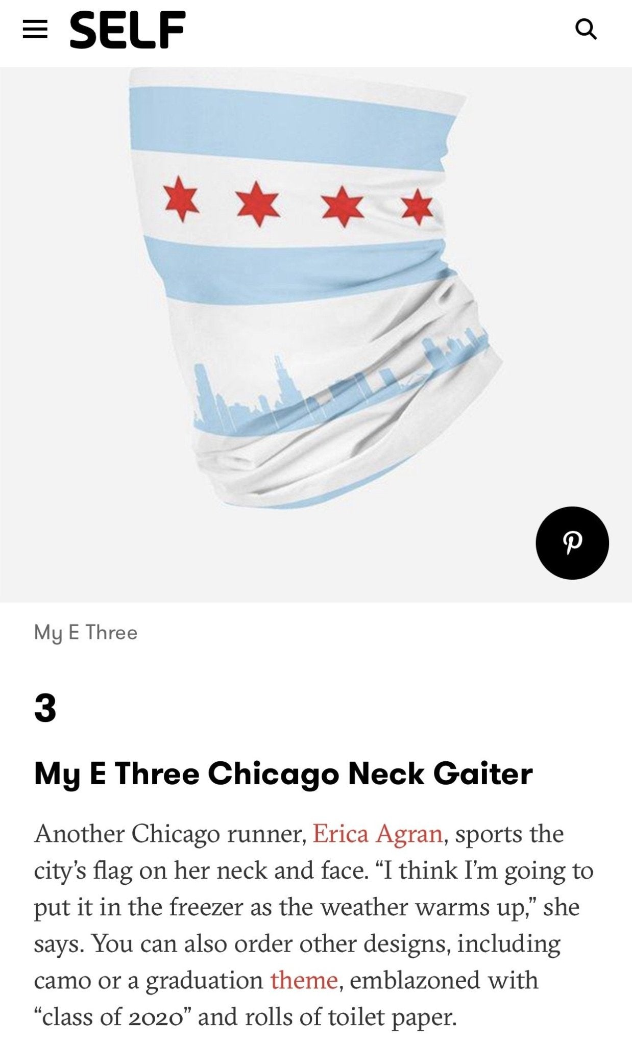 Chicago Neck Gaiter - White fits Kids, Youth and Petite - My E Three