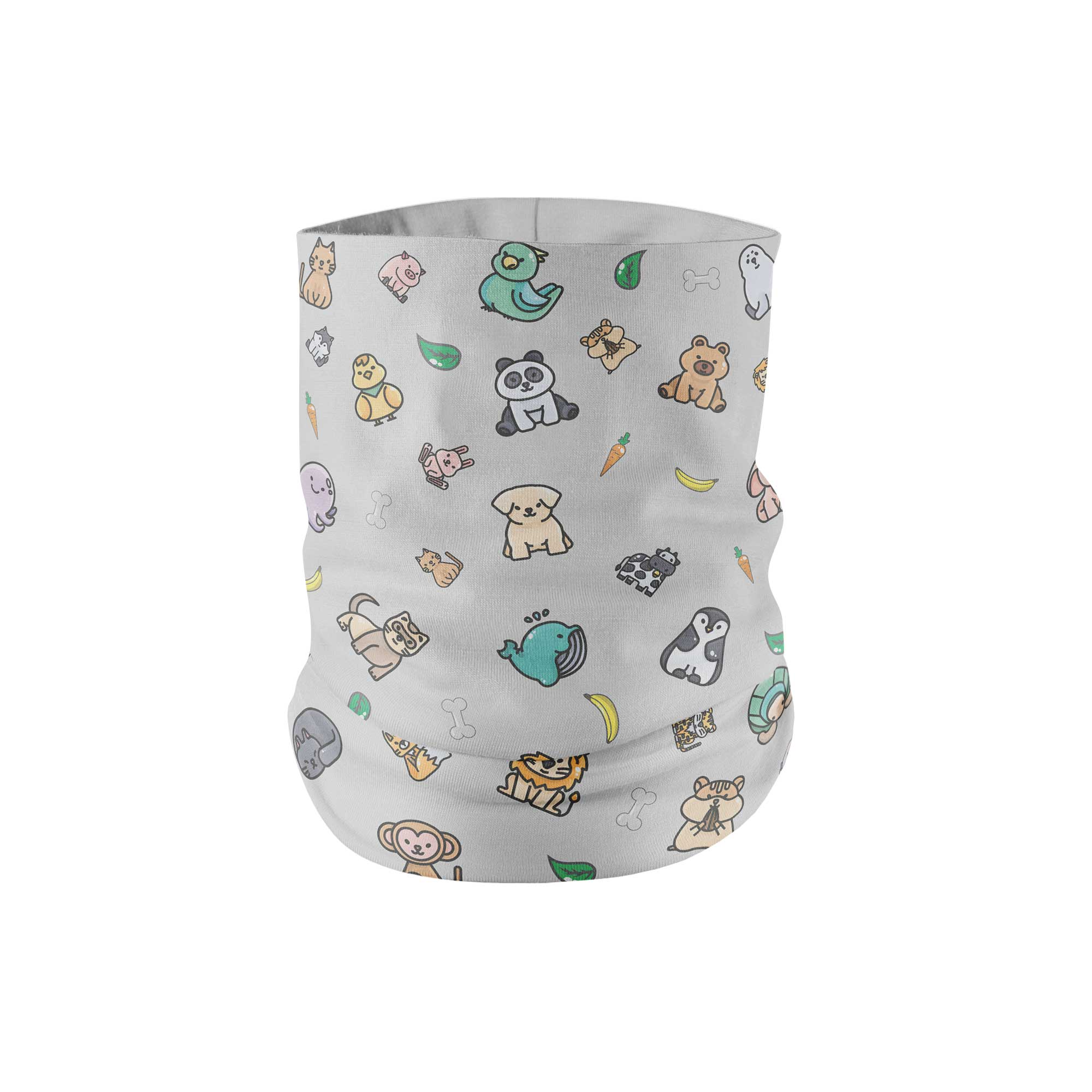 Cute Animal Neck Gaiter fits Kids, Youth and PetiteNeck Gaiter - My E Three