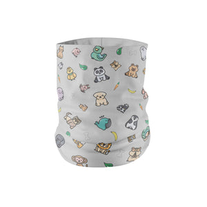 Cute Animal Neck Gaiter fits Kids, Youth and Petite - My E Three