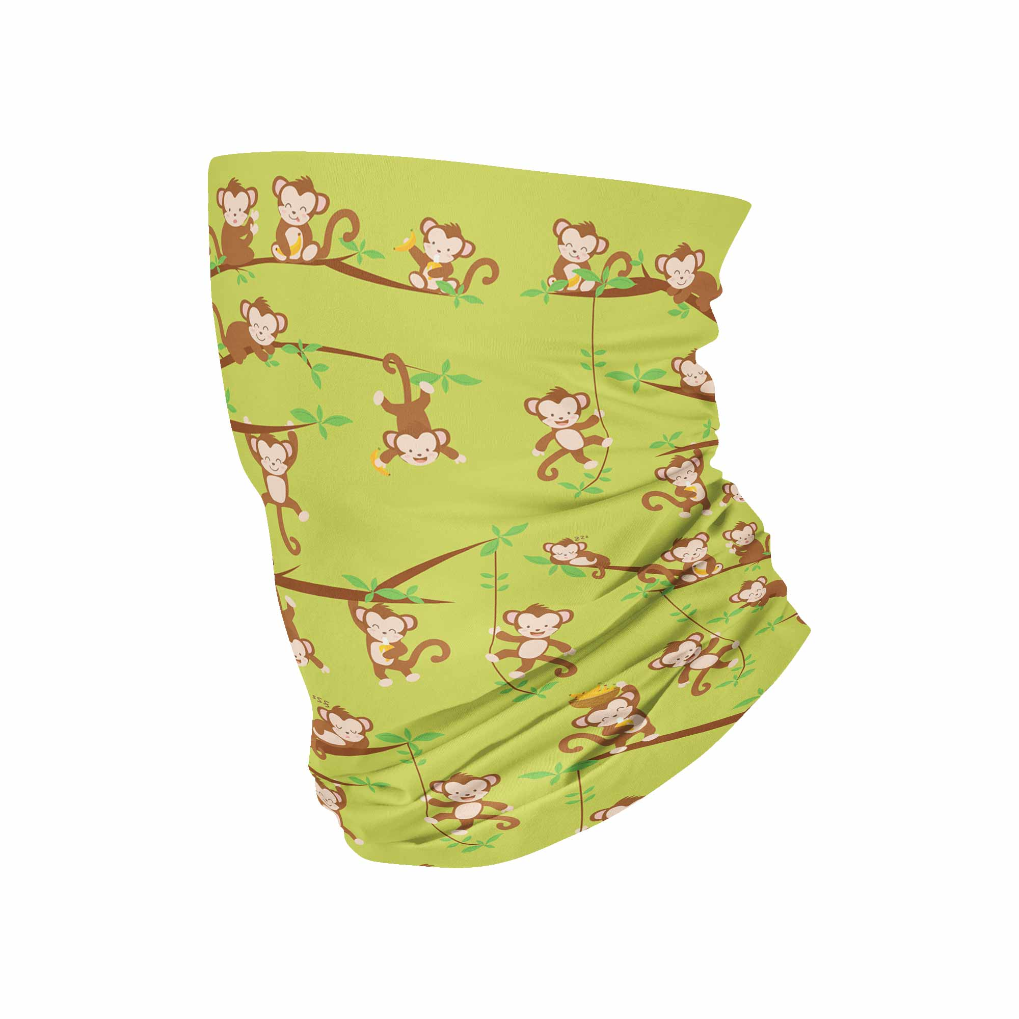 "Cute Monkeys Neck Gaiter aka ""Enky"" fits Kids, Youth and PetiteNeck Gaiter - My E Three"