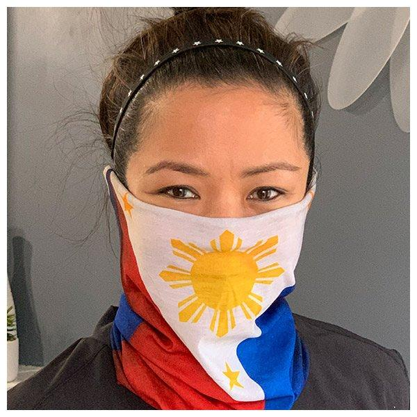 Filipino Flag Neck Gaiter fits Kids, Youth and Petite - My E Three