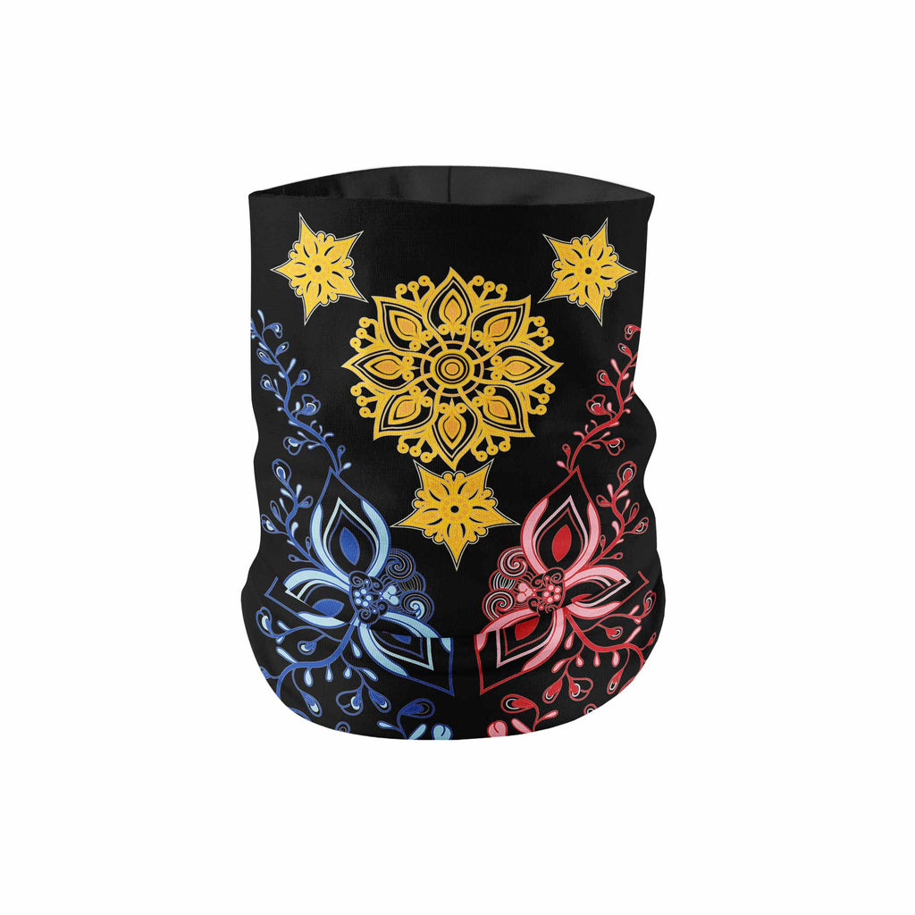 """La Pinay"" Floral PI Black Neck Gaiter - My E Three"