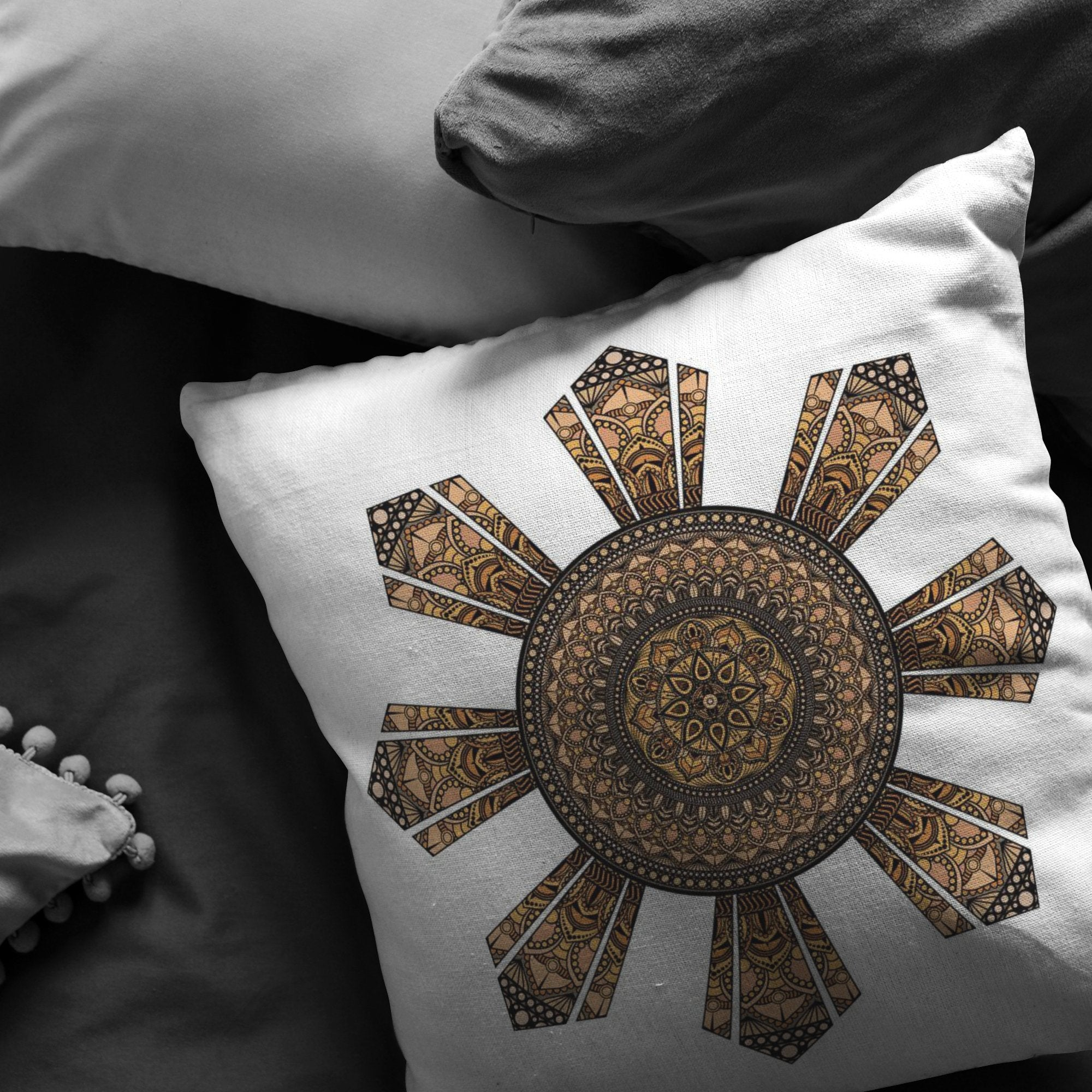 Mandala Filipino Sun Broadcloth PillowPillows Multi - My E Three