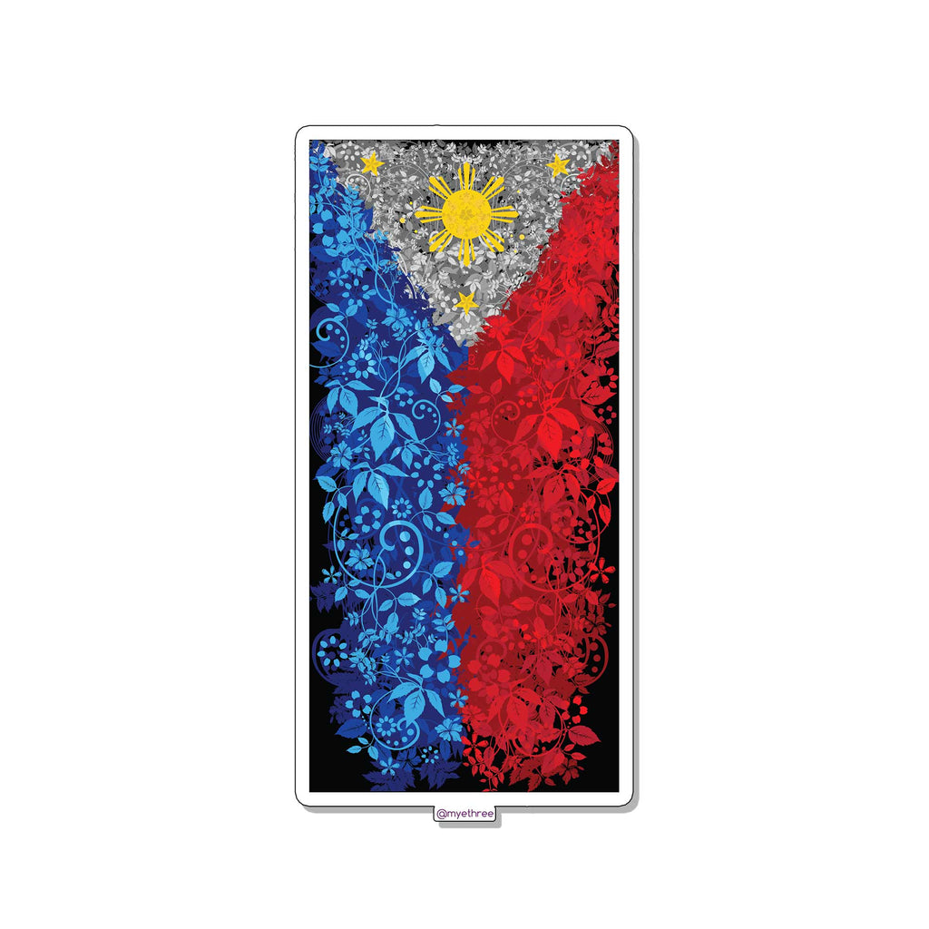 Philippine Floral Sticker or Magnet - My E Three