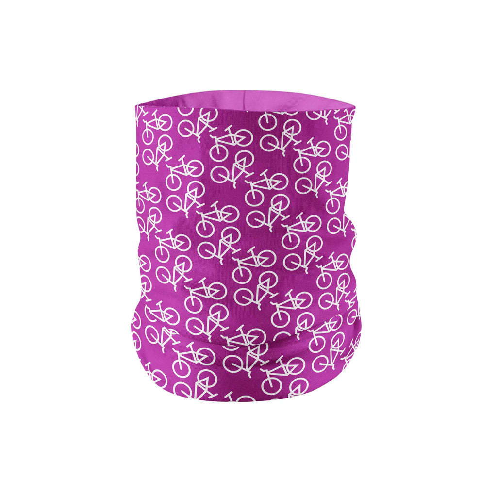 Purple Bike Neck Gaiter fits Kids, Youth and Petite - My E Three