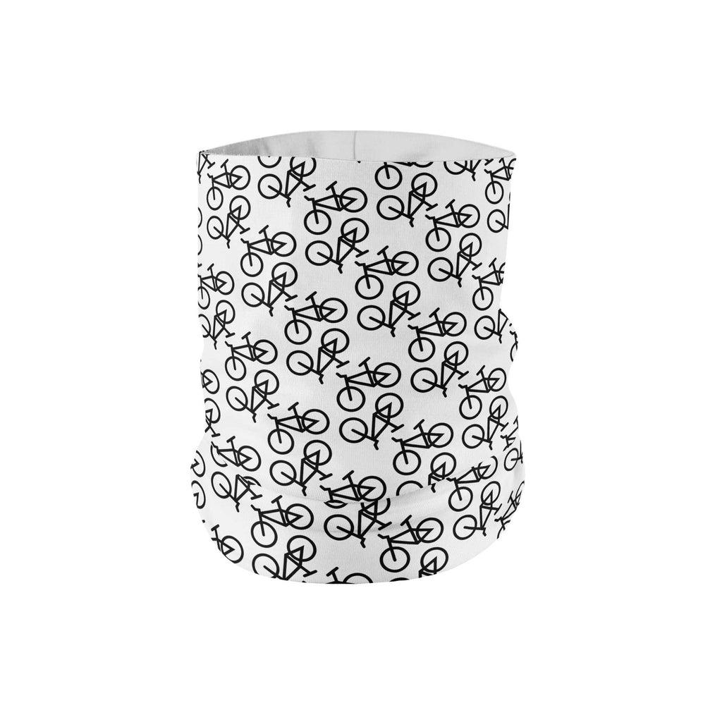 White Bike Neck Gaiter fits Kids, Youth and Petite - My E Three