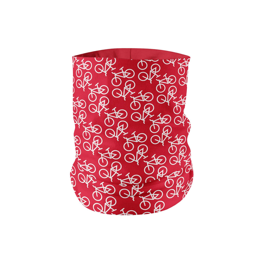 Red Bike Neck Gaiter fits Kids, Youth and Petite - My E Three